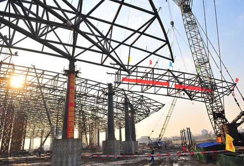 国际展览中心钢结构主体封顶